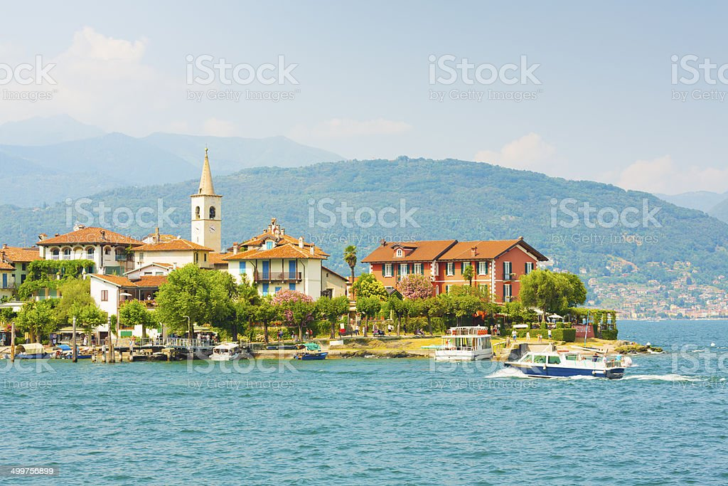 Isola Superiore dei Pescatori, Italy royalty-free stock photo