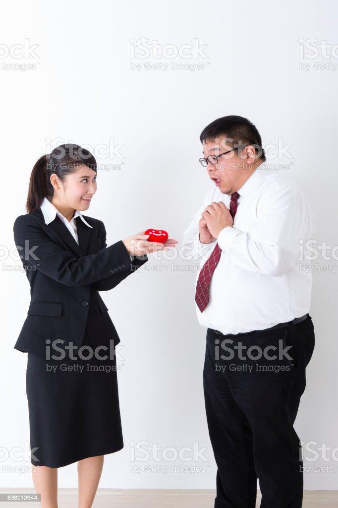 Superiors and subordinates stock photo