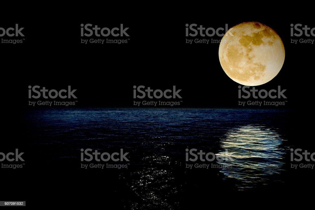Super-Luna - foto stock