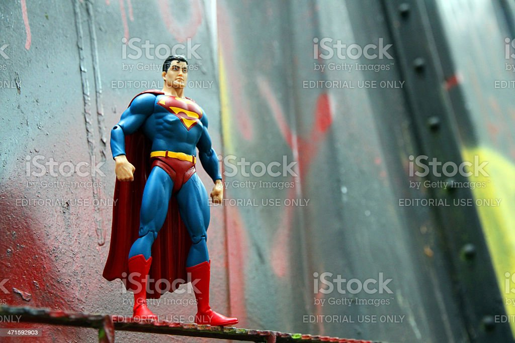 Superman and Bent Metal stock photo