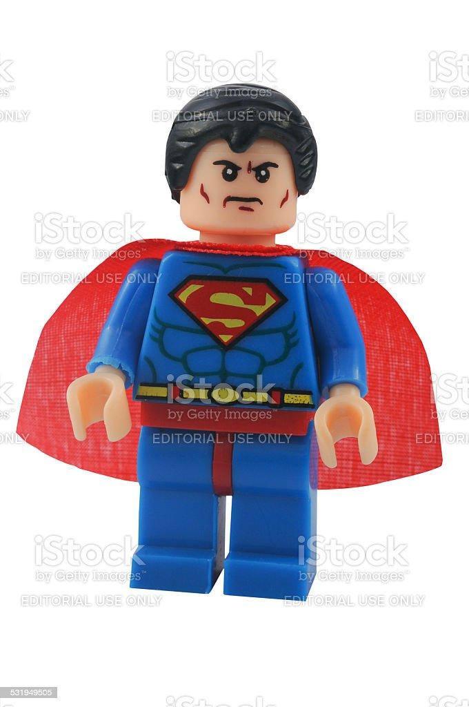 Superman Minifigure stock photo