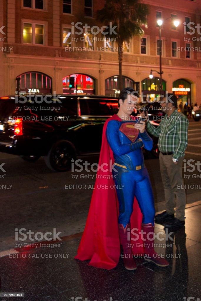 Superman stock photo