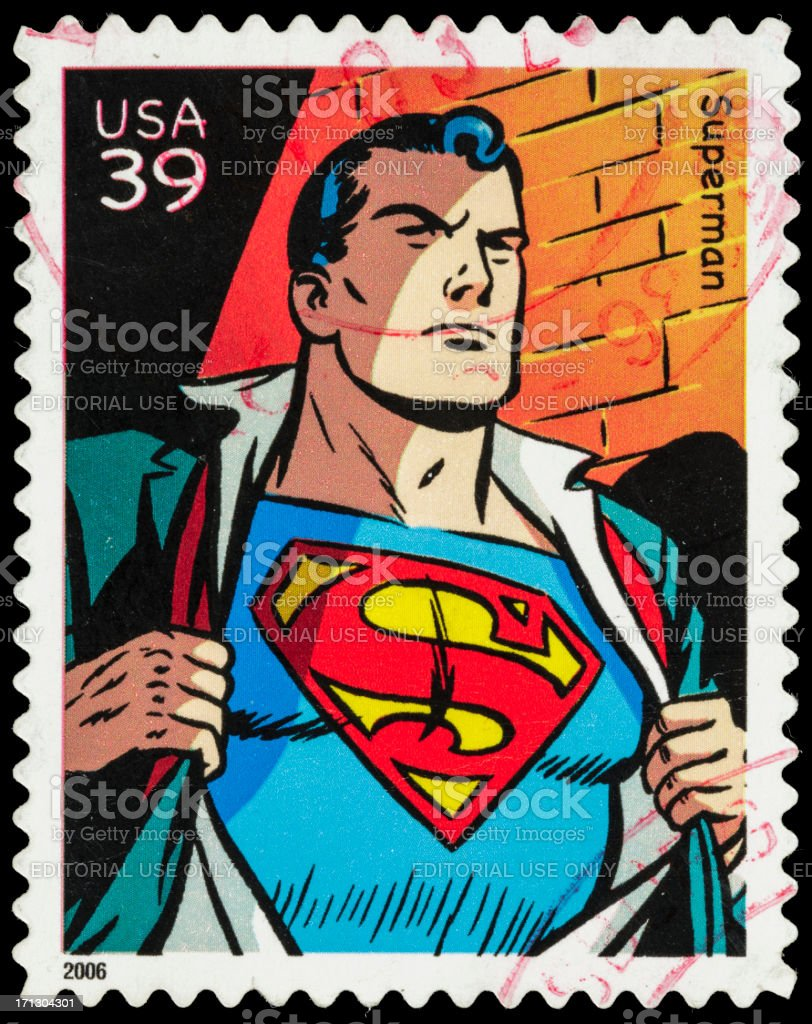 USA Superman postage stamp stock photo