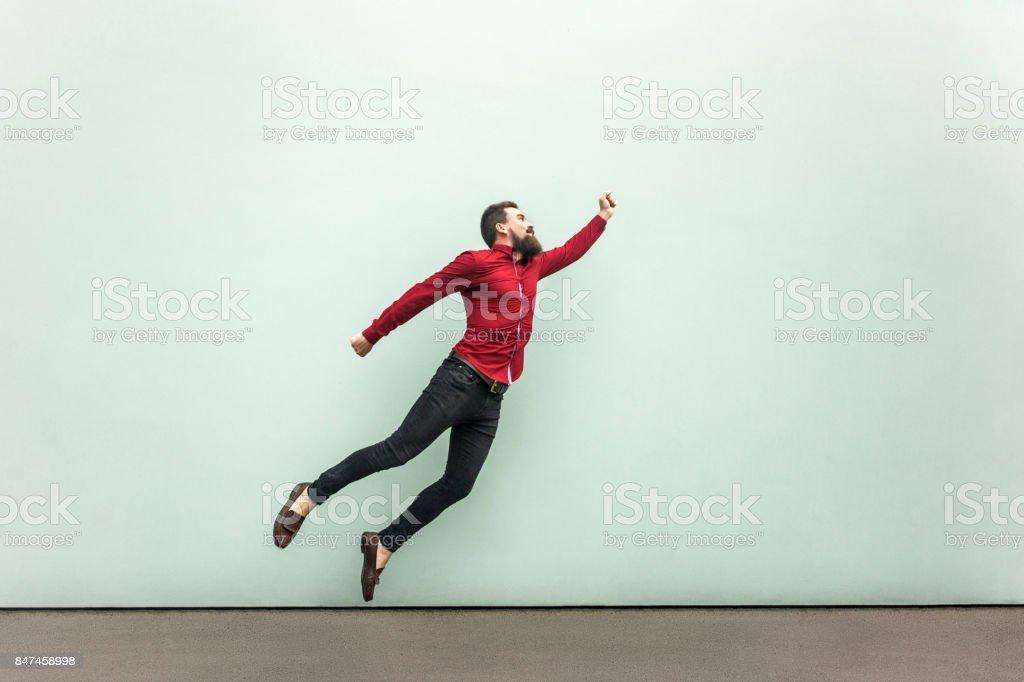 Superman-Stil. Begeisterung-Konzept – Foto