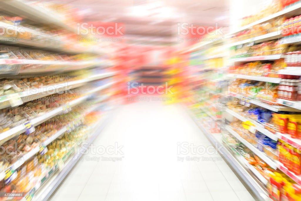 Supermarket aisle royalty-free stock photo
