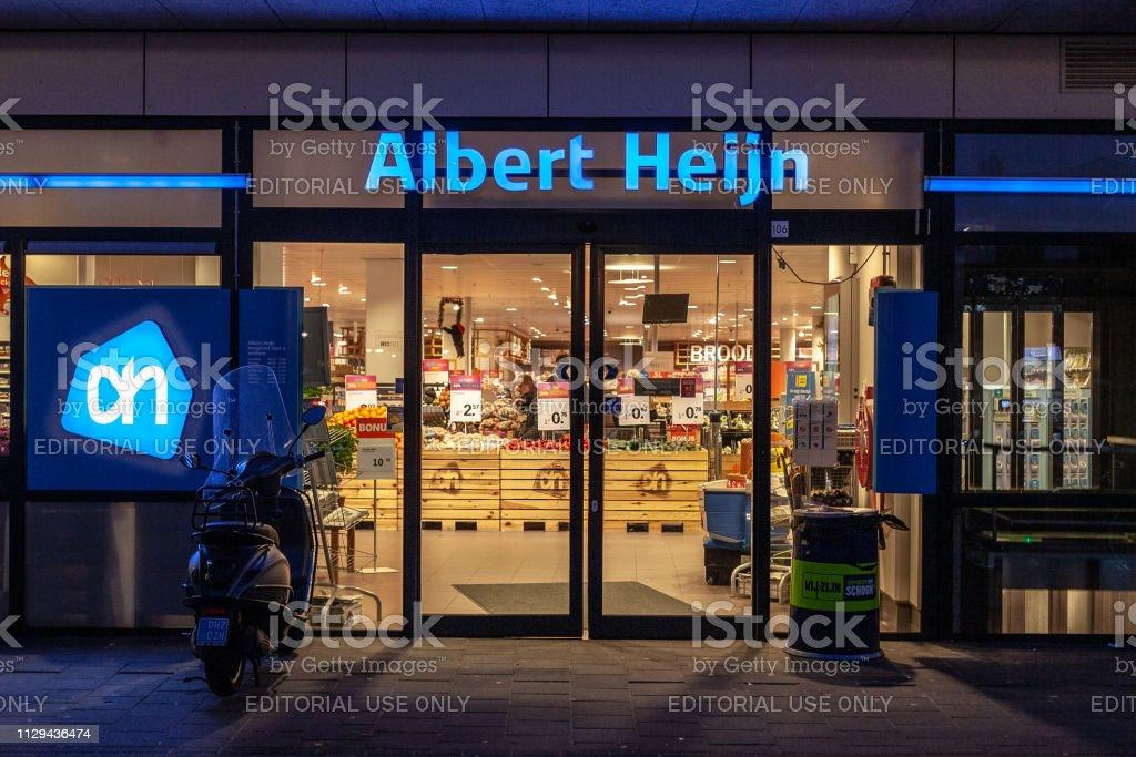 Supermarkt Albert Heijn in Amersfoort, de Nederland-2018 foto