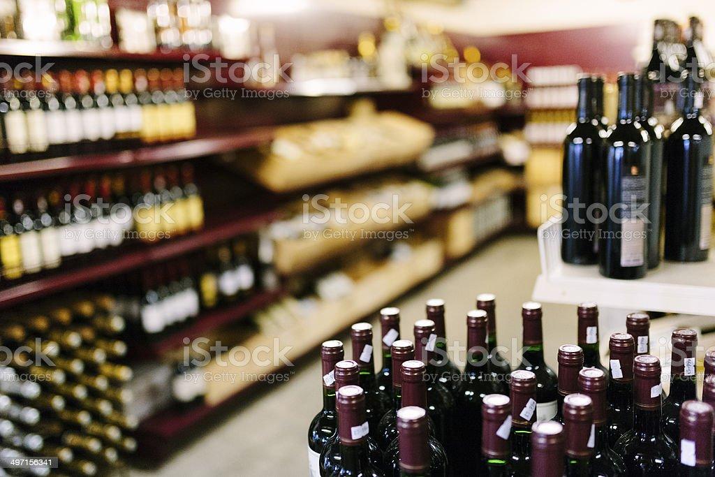 Supermercado, bebidas alcoólicas - fotografia de stock