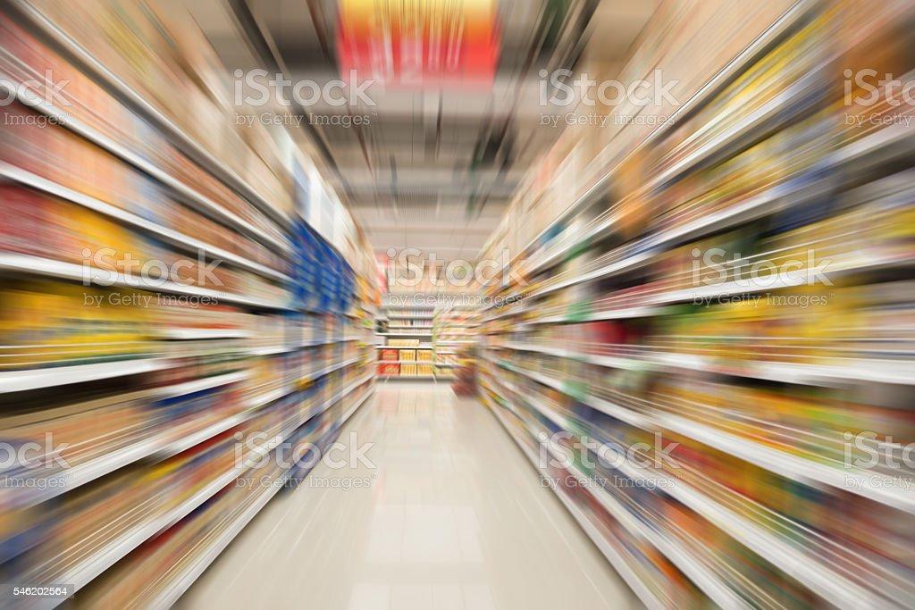 supermarket background stock photo