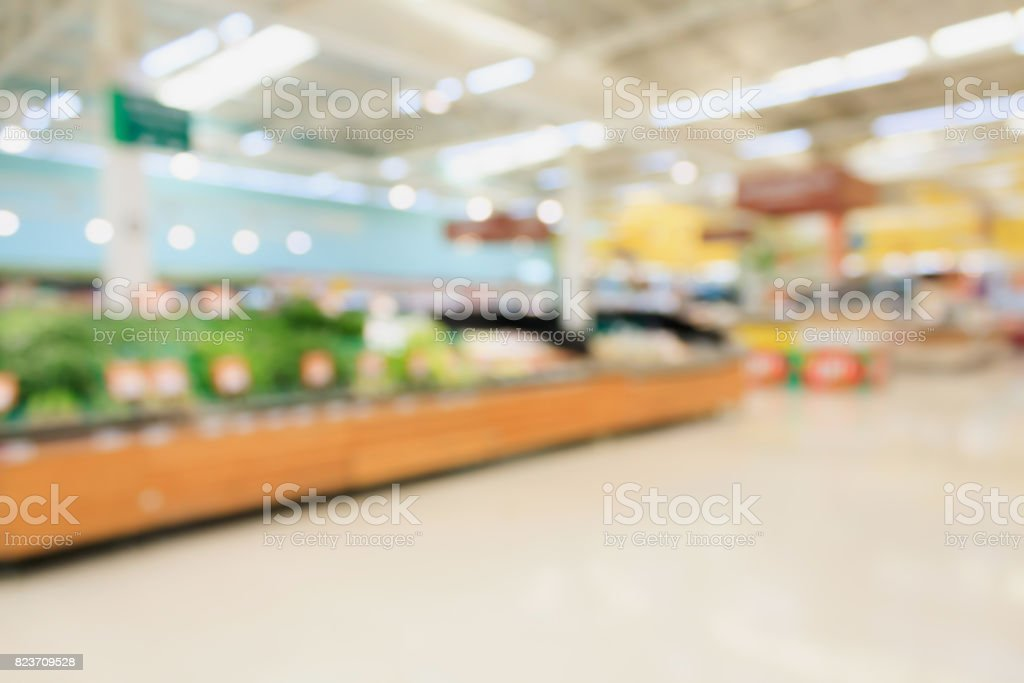 supermarket blur background stock photo