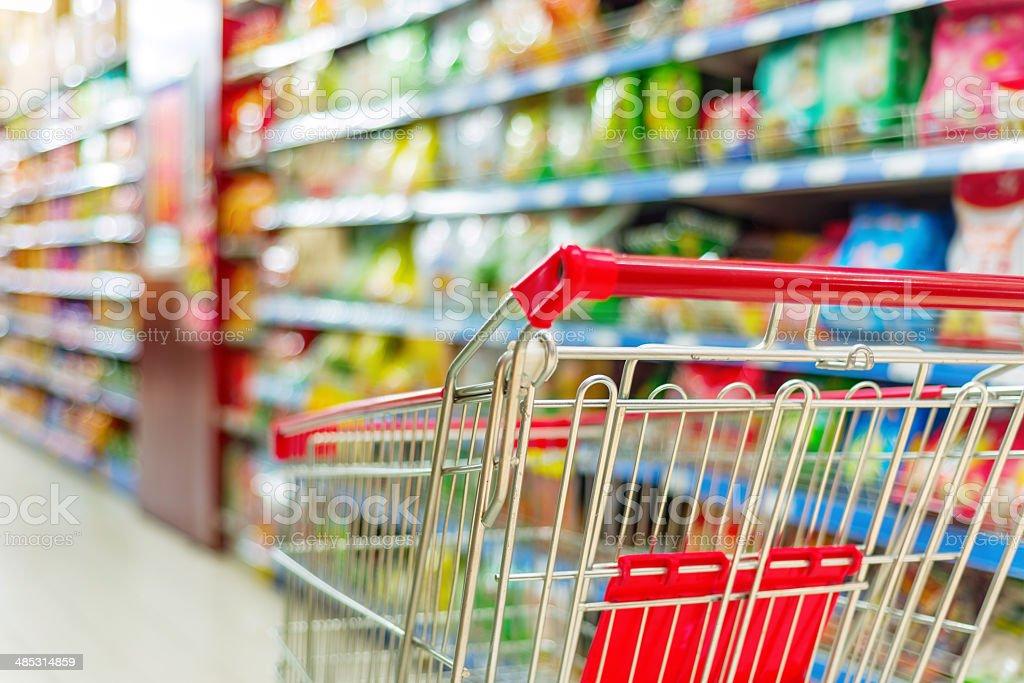 supermarket cart royalty-free stock photo