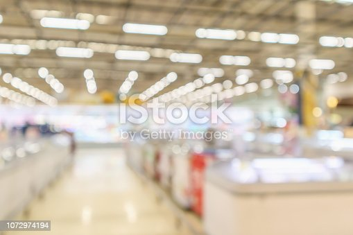 1072974214 istock photo supermarket grocery store interior blurred defocused background with bokeh light 1072974194