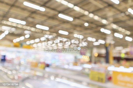 1072974214 istock photo supermarket grocery store interior blurred defocused background with bokeh light 1073416794