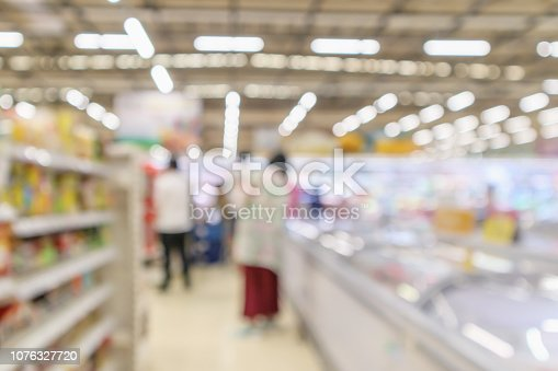1072974214 istock photo supermarket grocery store interior blurred defocused background with bokeh light 1076327720