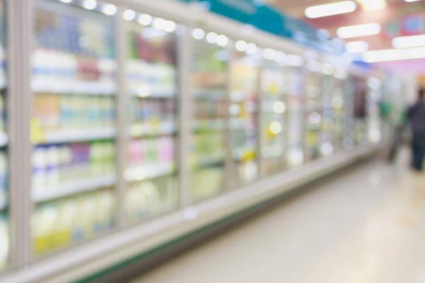 supermarket in blurry for background - prodotti supermercato foto e immagini stock