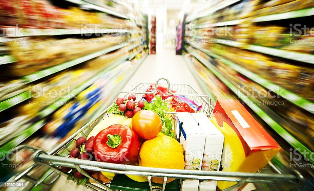Supermarket royalty-free stock photo