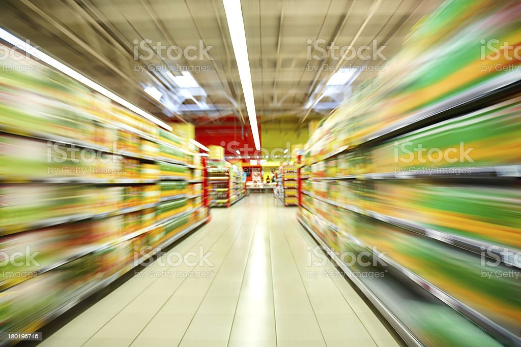 Supermarket royalty-free stock photo