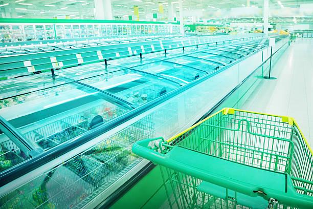 수퍼마켓 - 냉동식품 뉴스 사진 이미지