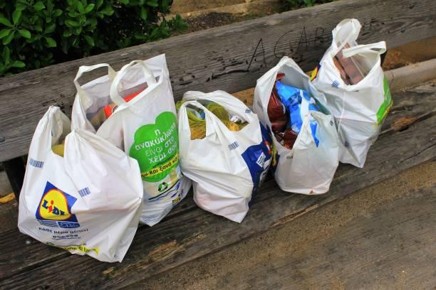 Sacs à provisions recyclables de supermarché - Photo