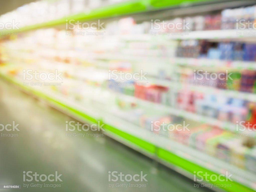 Kühlschrank Regal : Supermarkt kühlschrank regale unscharfen hintergrund stock