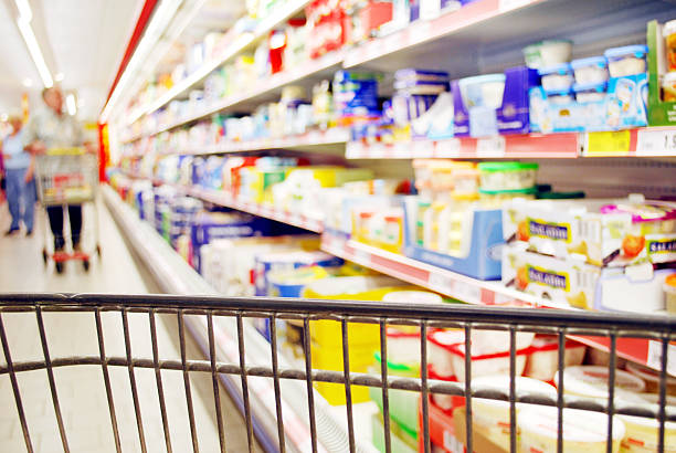 Supermarket Shopping stock photo