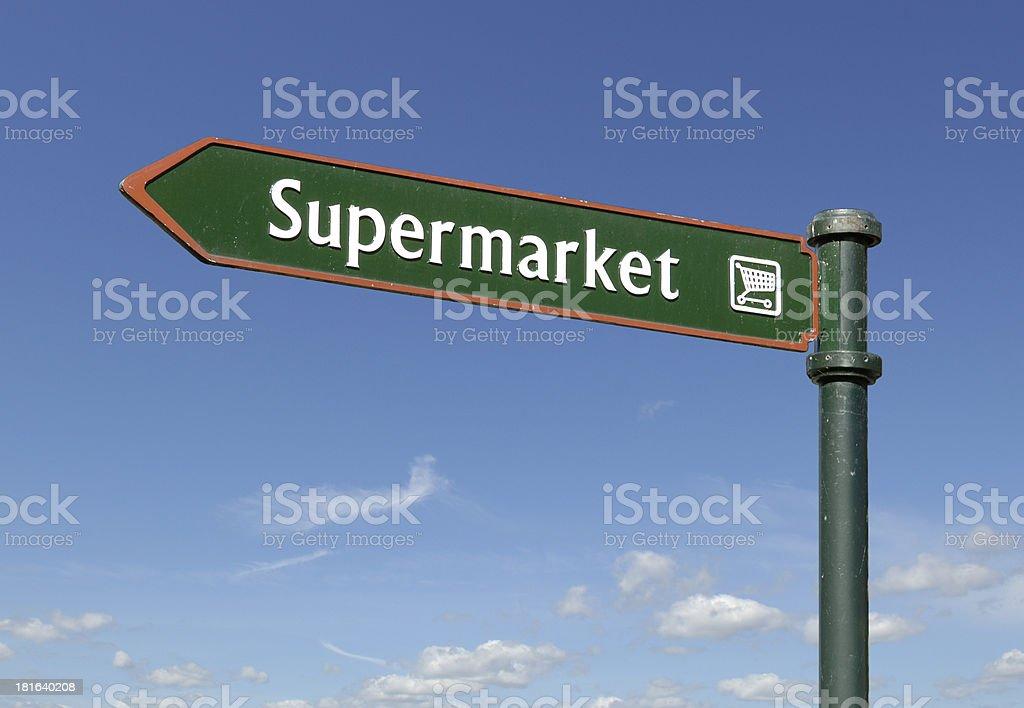 Supermarket sign royalty-free stock photo