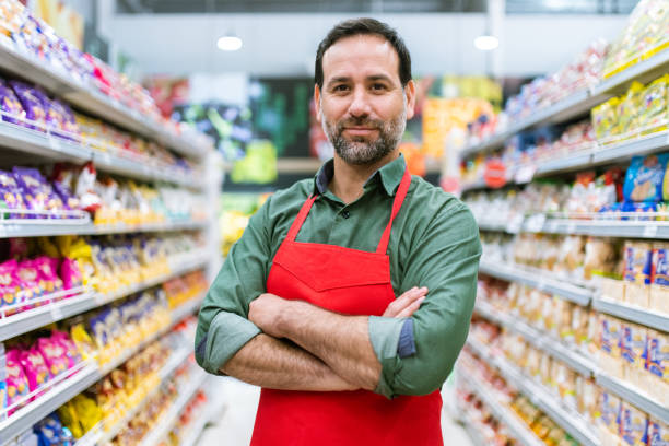 Supermarkt Stocker Portrait – Foto