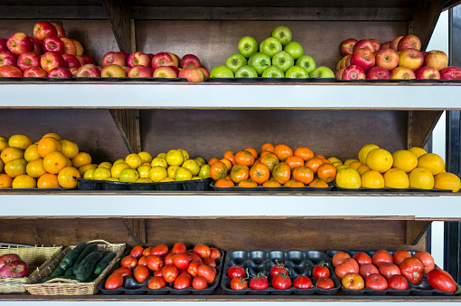 Supermarket vegetable stand