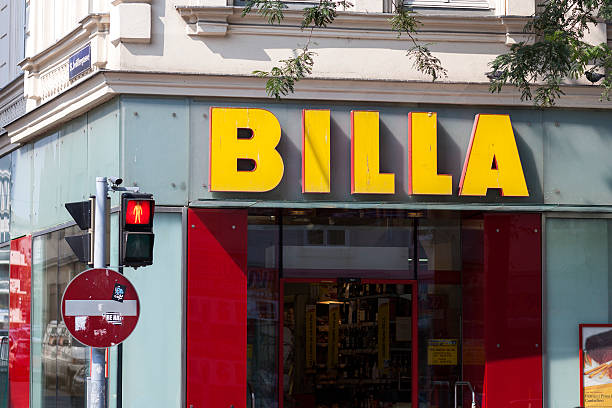 billa supermarkt. wien, österreich - rewe supermarket stock-fotos und bilder