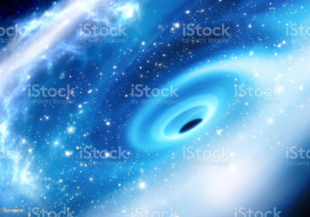 Supermassive black hole at the Milky Way Galactic Center stock photo