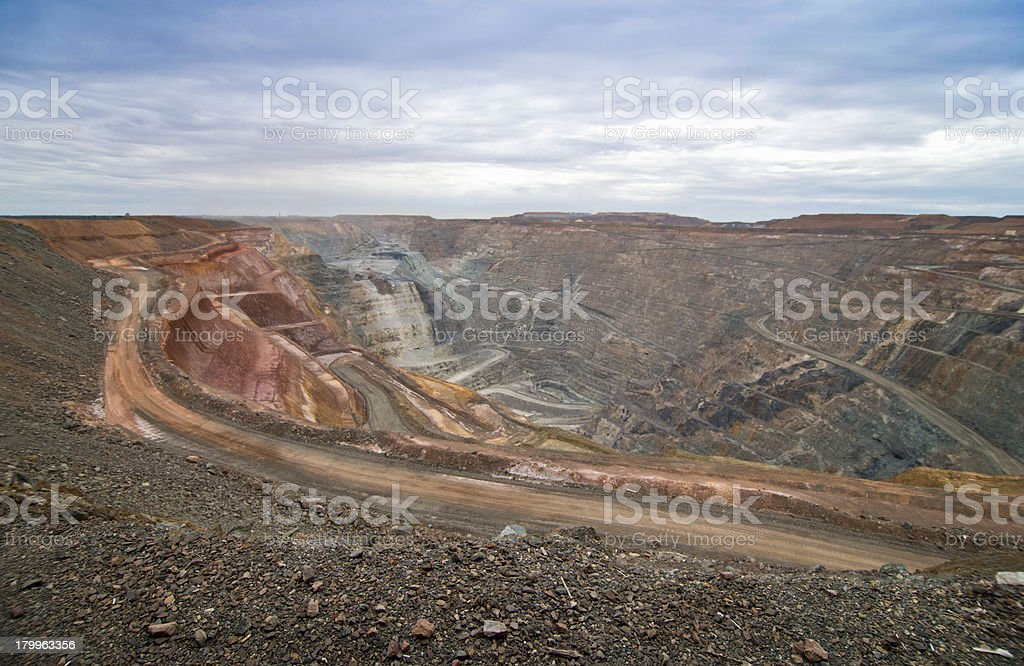 Superpit stock photo