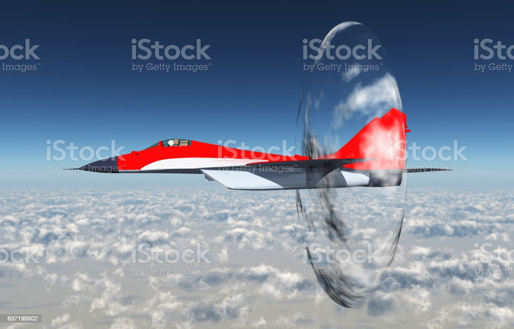 Supersonic aircraft stock photo