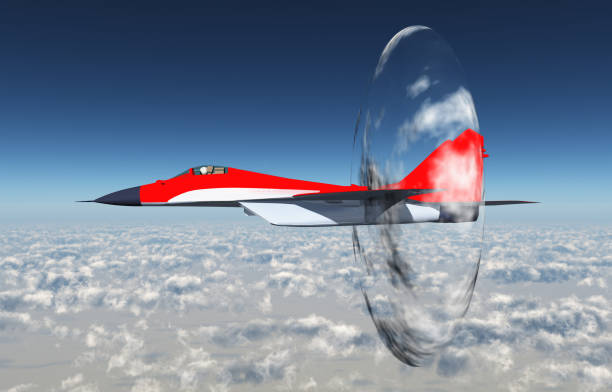 supersonic aircraft - sonic boom stock photos and pictures