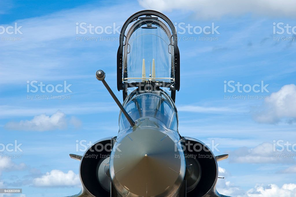 Supersonic jet fighter royalty-free stock photo