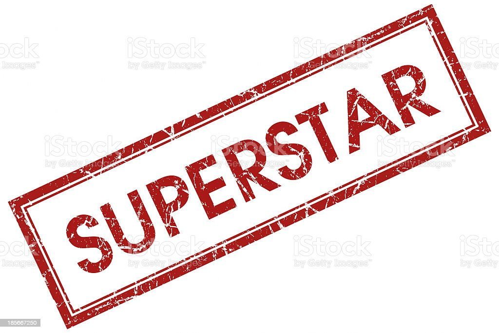 superstar red square stamp royalty-free stock photo