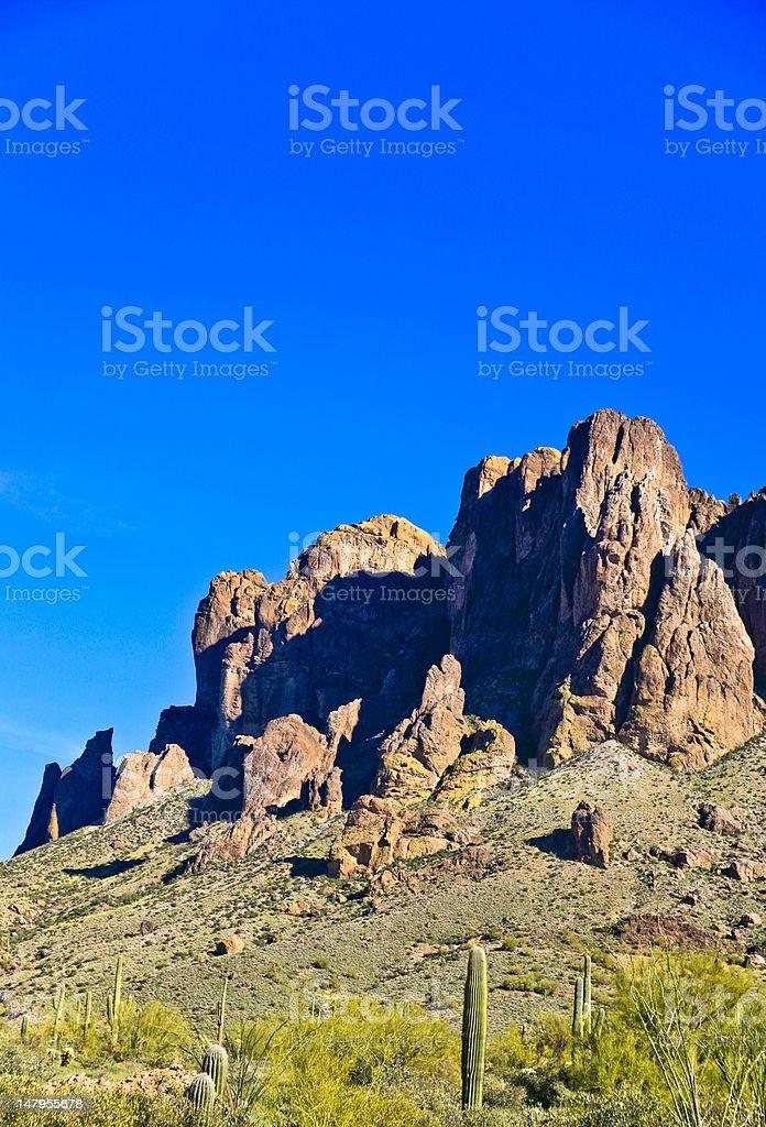 Superstition Mountain, Apache Trail,Arizona stock photo