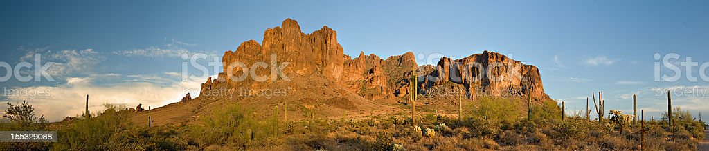 Superstition Mountain Pano royalty-free stock photo