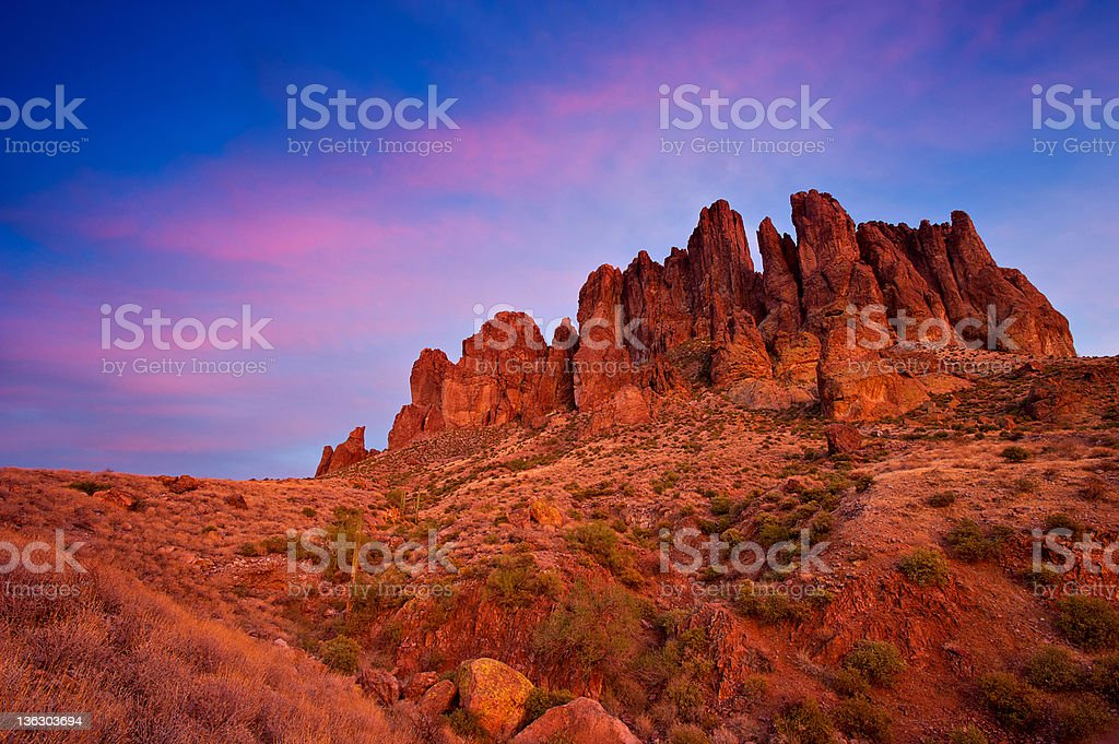 Superstition Mountains, Arizona royalty-free stock photo