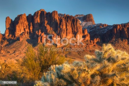 Superstition Mountains in Arizona. East of Phoenix