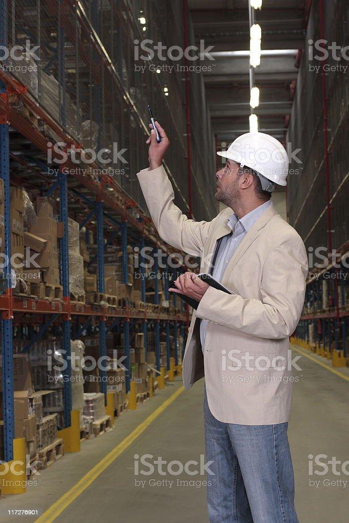 supervisor counting stocks royalty-free stock photo