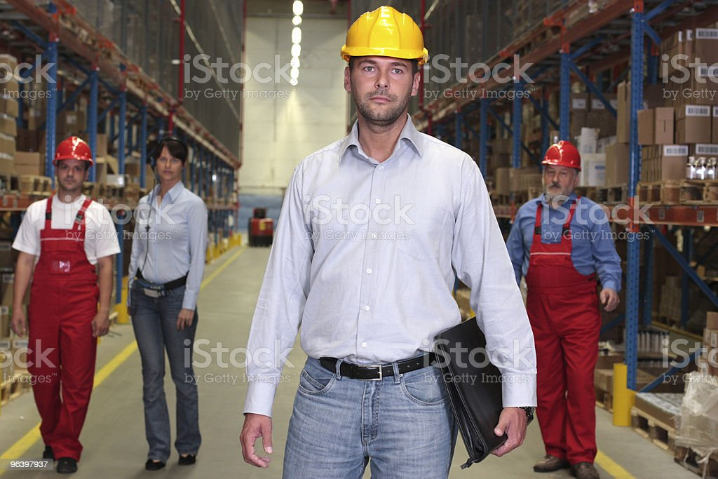 supervisor in factory stock photo
