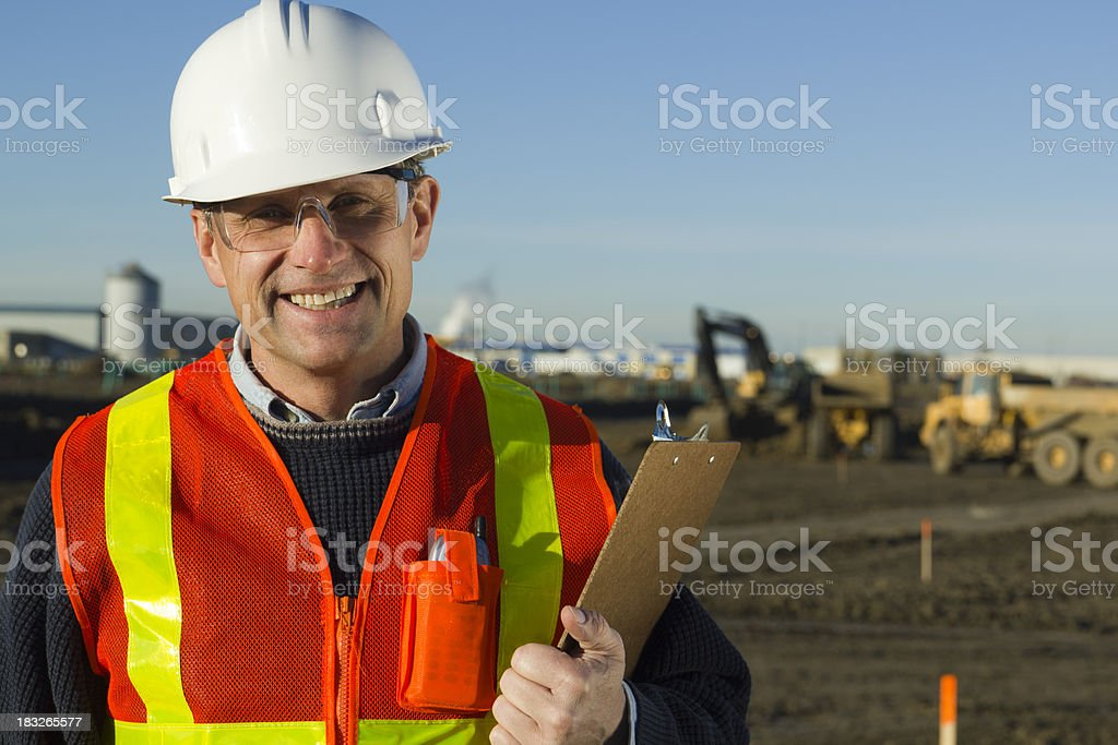 Supervisor on Site royalty-free stock photo