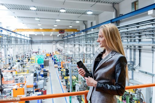 istock Supervisor on top in modern facotry 527041788