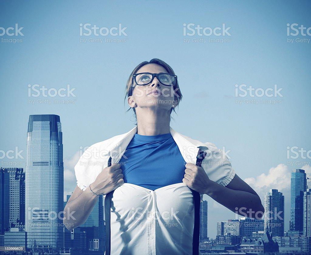 Superwoman royalty-free stock photo