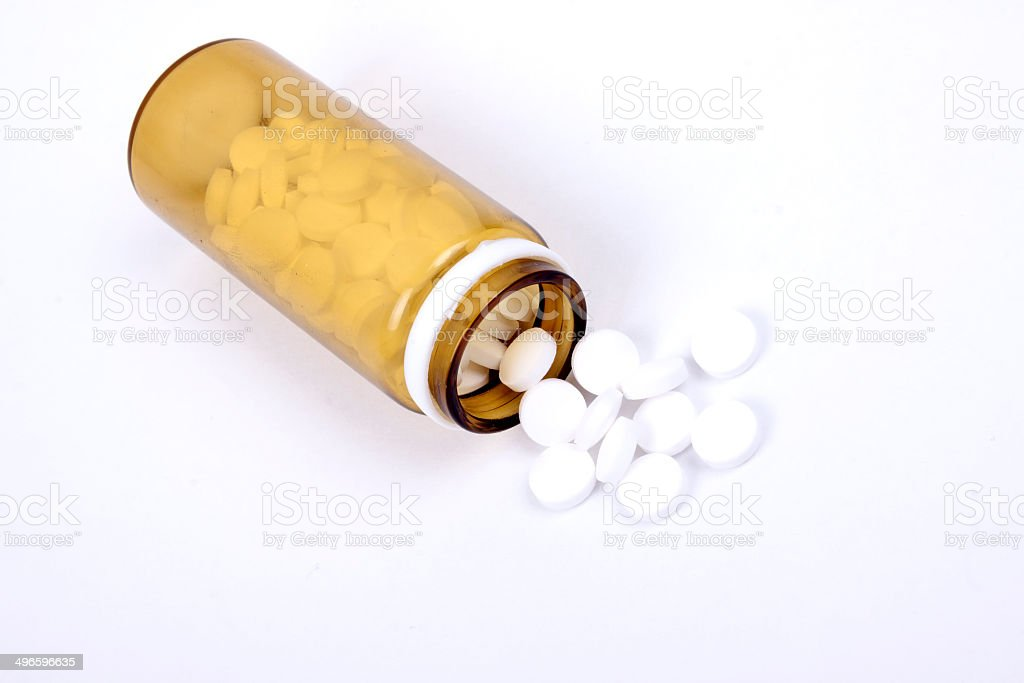 Suplements Pills On The Table With Dose Stock Photo