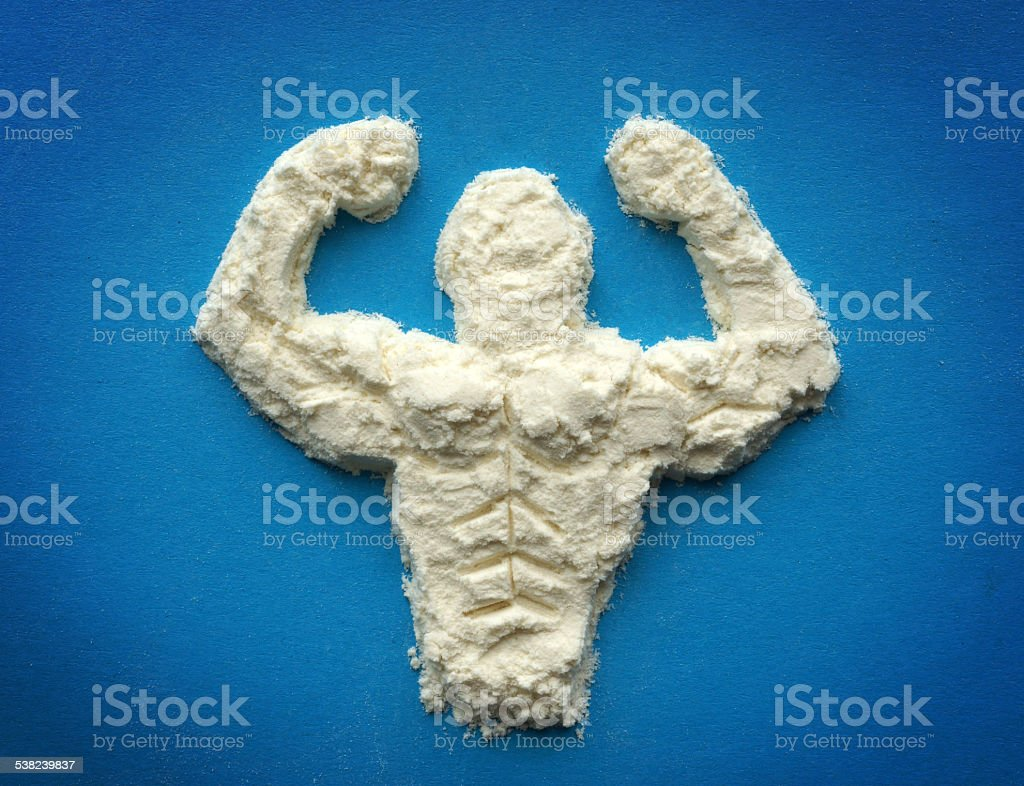 Supplements for bodybuilders, sportmans and healthy eating. stock photo