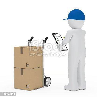 istock supplier figure hand truck 153823846