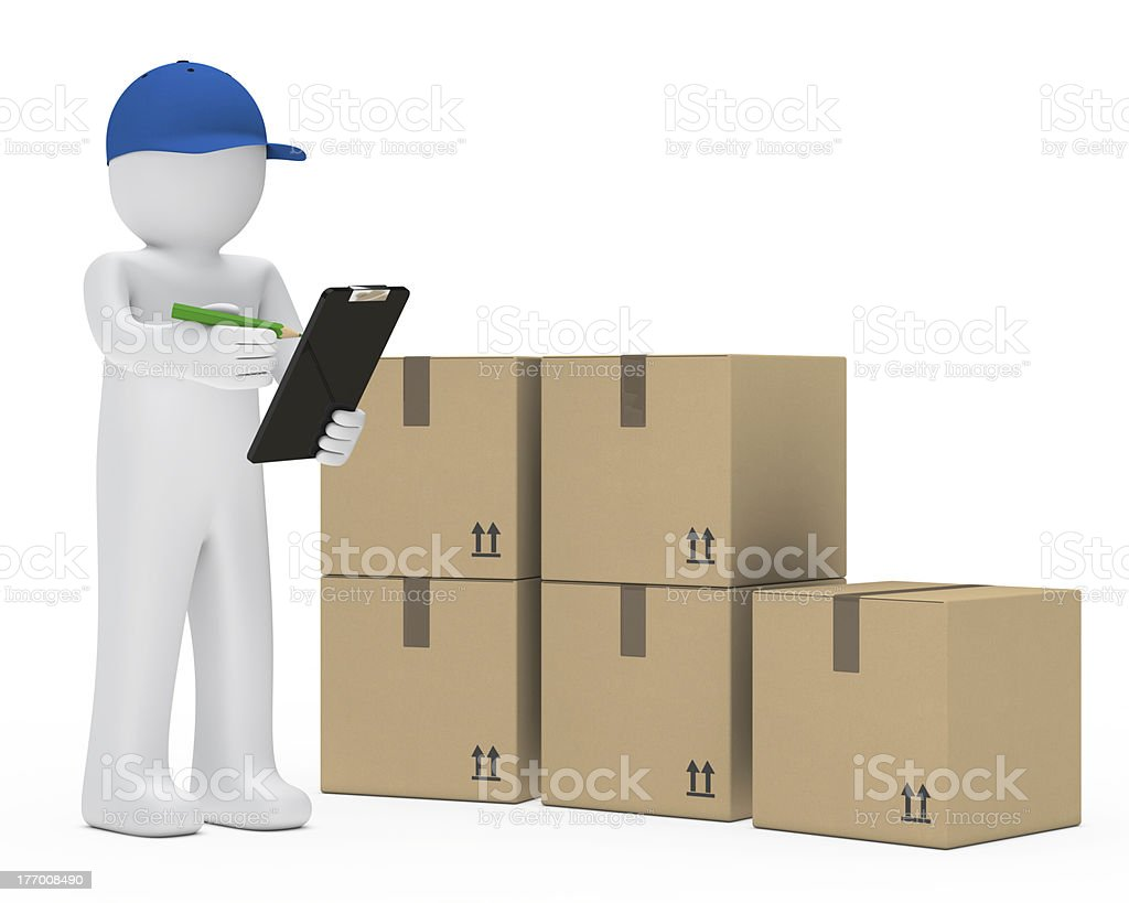 supplier figure package royalty-free stock photo
