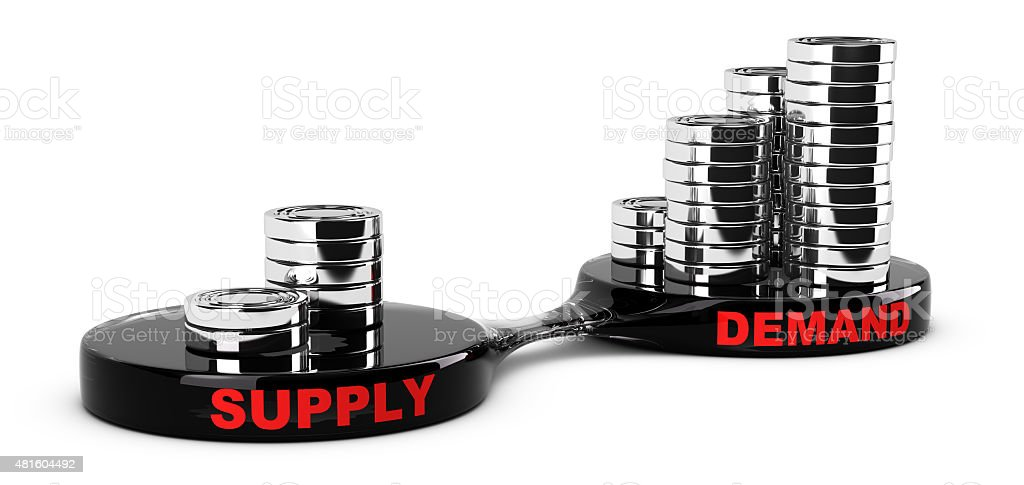 Supply and Demand stock photo