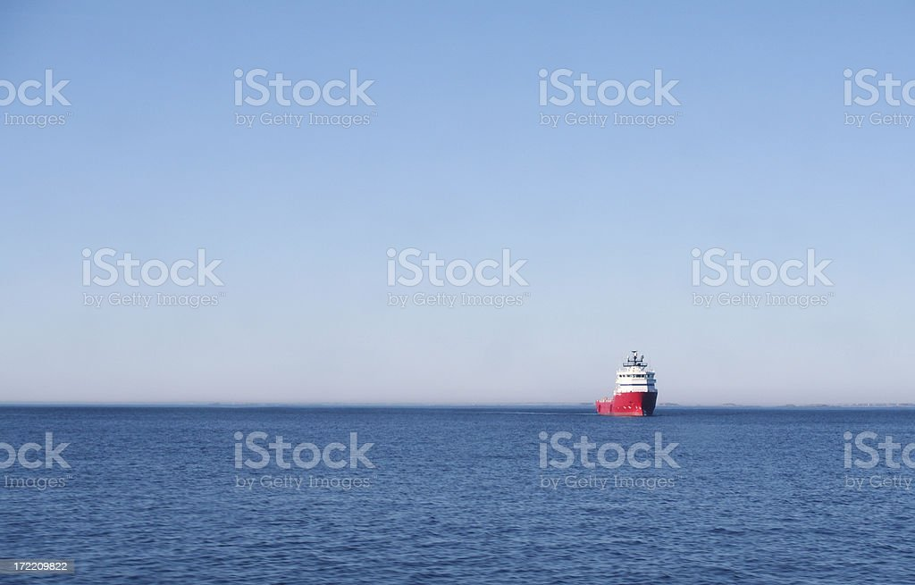 supply boat royalty-free stock photo
