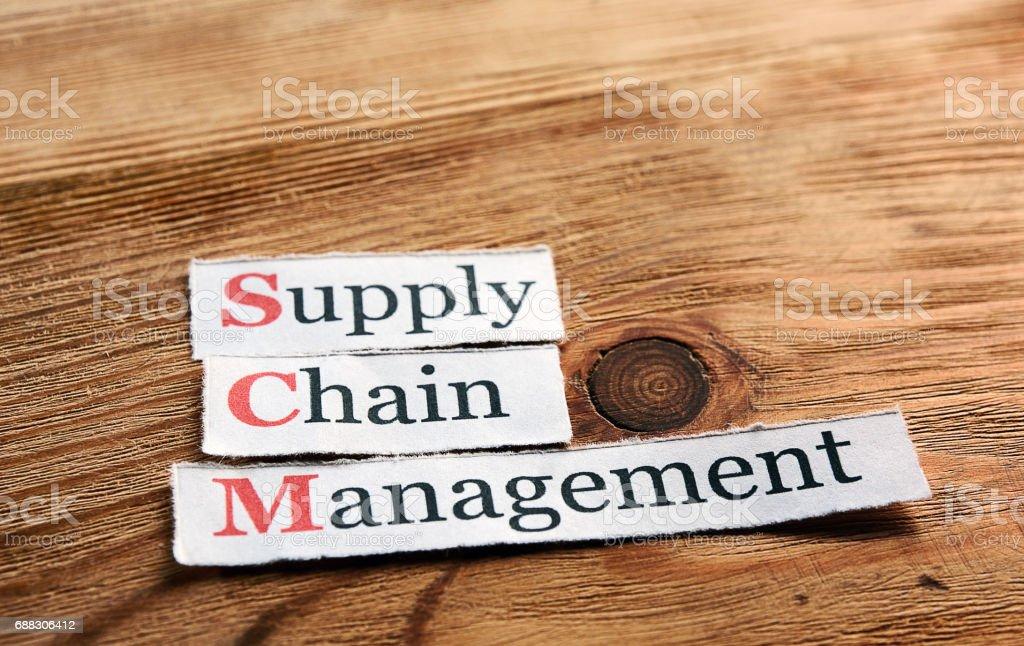 SCM Supply Chain Management stock photo